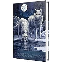 Guerreros de invierno - Lobos blancos con cuaderno de luna azul - Fantasía - Nemesis Now