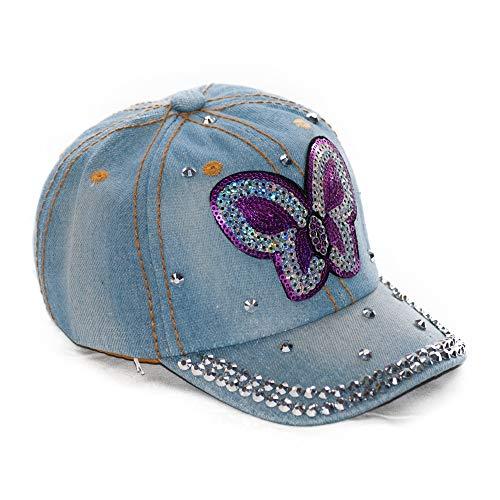 Dazoriginal Baseballmutze Hut Mädchen Basecap Sonnenhut Schiebermütze Schildmütze (Blau)