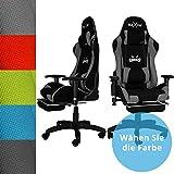 RAXOR Racing Hochwertiger Bürostuhl Gaming Stuhl,Ergonomischer höhenverstellbar Schreibtischstuhl Chefsessel Computerstuhl Drehstuhl mit einstellbaren Armlehnen, Kunstleder PU Sportsitz Racing Chair(anthrazit)