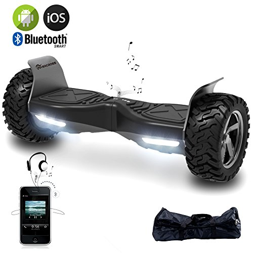 EverCross 8.5' Hoverboard Scooter Patinete del Mano Eléctrico Bluetooth App Self Balancing (Negro)