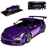 alles-meine GmbH Porsche 911 991 GT3 RS Coupe Ultra Violett Ab 2013 limitiert 1002 Stück 1/18 Minichamps Modell Auto