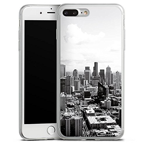 Apple iPhone 8 Slim Case Silikon Hülle Schutzhülle City Stadt Skyline Silikon Slim Case transparent
