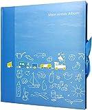 Foto Album Babyalbum Mein ERSTES Album blau 5 illustrierte Seiten Vorspann für persönliche Daten