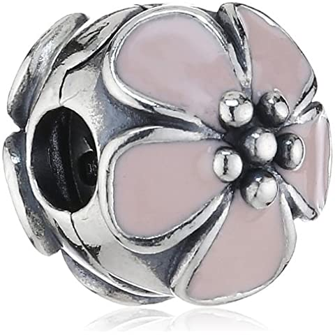 Pandora - Ciondolo da donna, argento sterling 925 e smalto, cod. 791041EN40 - Pandora Fiore Charm