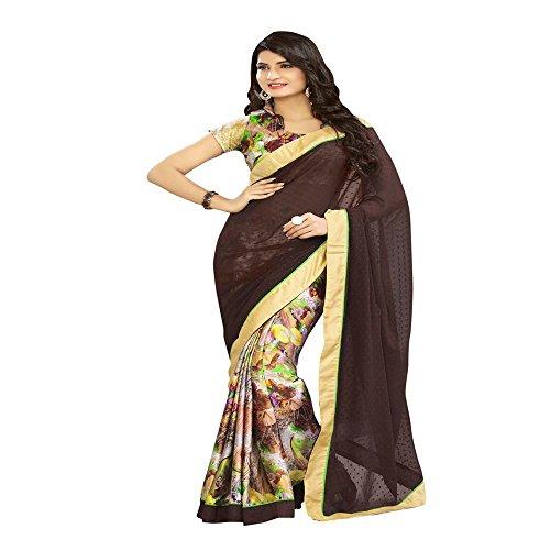RadadiyaTRD Women's Georgette saree with Blouse Piece (Latest Design Sarees /Party wear...