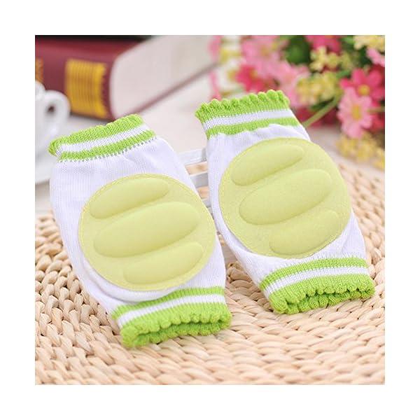 3 Pares Transpirable elástico ajustable niño bebé pequeño rodilleras almohadillas de codo de rodilla rastreando… 5