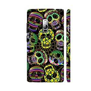 Colorpur OnePlus 2 Cover - Sugar Skulls Halloween Pattern Case