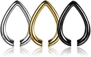 COOEAR Orecchio Peso Piercing Indicatori Orecchini Spina e tunnel Barella Expander Barattolo regalo per feste nuovo.
