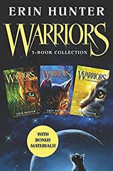 Warriors 3-Book Collection with Bonus Material: Warriors #1: Into the Wild; Warriors #2: Fire and Ice; Warriors #3: Forest of Secrets (Warriors: The Prophecies Begin) by [Hunter, Erin]