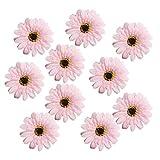 Fenteer 10 Stück Künstliche Seidenblumen Kunstblumen Blüten Wohnaccessoires Blumen Verzeirung für DIY Basteln Handwerk Dekoration - Rosa