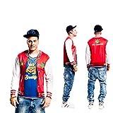 Yijja Fast Fun - Rapper, camiseta de manga larga para adultos, talla S (Charm Kingdom YJ00050)
