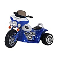 HOMCOM Children Ride on Toy Car Kids Motorbike Motorcycle Electric Scooter Motor Bicycle 6V Battery Operated Toy Trike (Blue)
