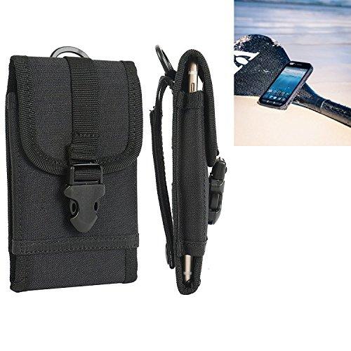 K-S-Trade Handyhülle für Caterpillar Cat S41 Gürteltasche Handytasche Gürtel Tasche Schutzhülle Robuste Handy Schutz Hülle Tasche Outdoor schwarz