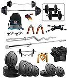 Bodyfit BF-30KG Weight Plates,5ft Rod,3ft Rod,2 D.RODS Home gym dumbell set.