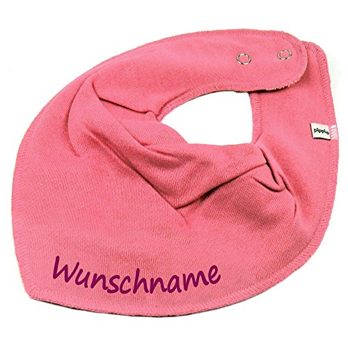 HALSTUCH mit Namen oder Text personalisiert bubblepink für Baby oder Kind (Personalisierte Name-baby-kleidung)
