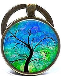 Árbol de la vida árbol de llavero llavero, llavero, arte impresión fotográfica clave Anillo Regalo de cumpleaños