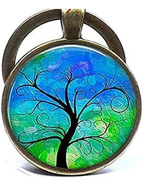 Baum des Lebens Schlüsselanhänger, Schlüsselanhänger, Baum, Kunstdruck Foto Schlüsselanhänger Geburtstag Geschenk