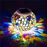 Kleine Kronleuchter Outdoor wasserdicht Outdoor LED Solar Beleuchtung Solar Farbe Mosaik Mason Jar Lichter Hängende Laterne Lichter