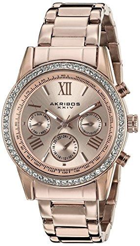akribos-xxiv-damen-armbanduhr-analog-quarz-ak872rg