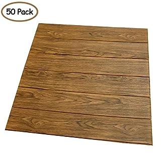3D Woodgrains Wallpaper, PE Foam Self-Adhesive Wall Stickers for TV Walls/Sofa Background Wall Decor/Bedroom Living Room, DIY Wood Wall Stickers (50, Wood)
