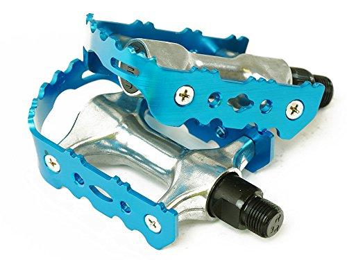 Mountainbike Aluminium Fahrrad Pedale (Blau)
