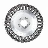 Funnyrunstore 6 / 8in sostituzione ruota malta Filo di acciaio erba contorto set taglierina rotativa erbaccia pennello lucidatura ciotola tipo trimmer pratico argento