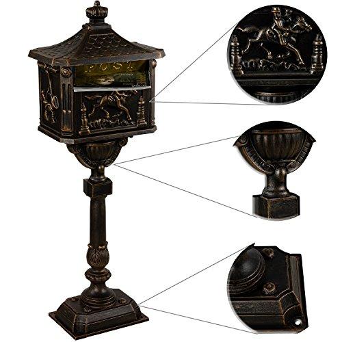 Standbriefkasten Antik in Bronze / In 4 Farben erhältlich - 3