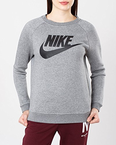 Nike Rally Sweatshirt, Damen, Large, Schwarz und grau (Damen Rally Pullover Nike)