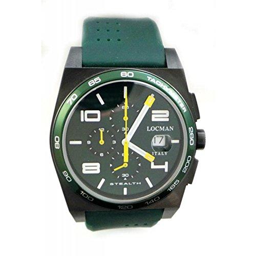 Watch Locman Men Quartz 0209bkggrwhysig (Rechargeable) Titanium quandrante Black Silicone Strap