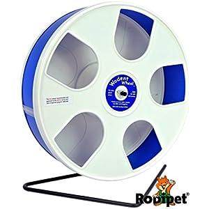 [Gesponsert]Ø 27 cm Hamsterlaufrad Wodent Wheel weiss/dunkelblau