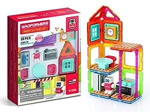 Magformers Minibot Juego de Cocina, Colores arcoíris, Formas geométricas educativas magnéticas, baldosas de construcción Stem Juego de Juguetes a Partir de 3 años