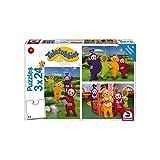 Schmidt Spiele Puzzle 56244Teletubbies, im tele Tubby di paese, Puzzle, 3X 24pezzi
