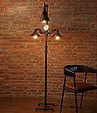 Lampade da terra Loft lampada da terra / feng shui industriale lampada da terra / sala da studio retrò salotto pavimento lampada da terra in ferro lampade a piantana