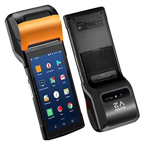 Sunmi V2 Android 7.1 tragbares mobiles Kassenterminalsystem 4G mit 58 mm Thermodrucker, Android PDA-Lautsprecher Thermodrucker 4G WiFi-Kamerascanner 1D / 2D Sim-Karte Touch-screen-pda