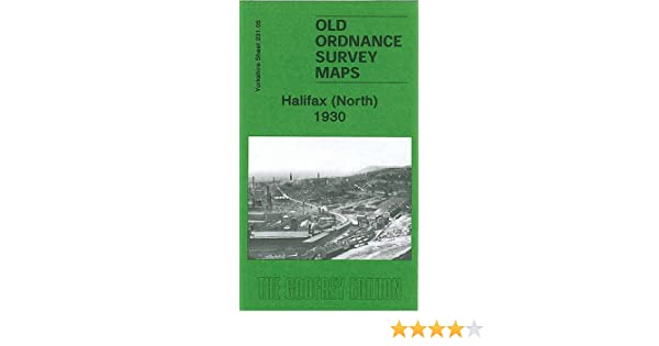 OLD ORDNANCE SURVEY MAP HALIFAX NORTH 1905 CROWN STREET NORTHGATE BOOTH TOWN