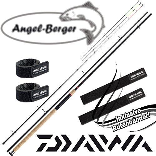 Daiwa Ninja X Feeder Feederrute mit Angel Berger Rutenband (3,90m / 80-220g)