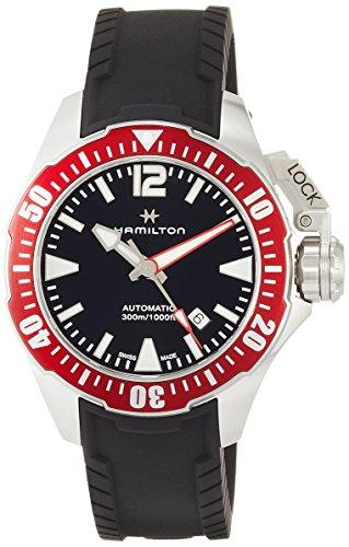 Hamilton Homme 42mm Bracelet Résine Argent Automatique Montre H77725335