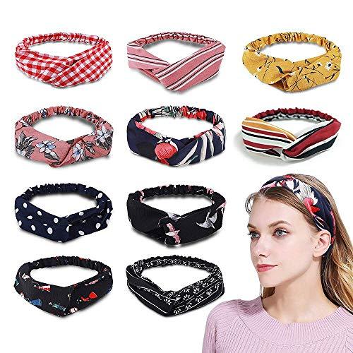 lzhoo Headbands Frauen, 100 Headbands Elastic bedruckt Kopf, Kopf wickeln Haar Band, Frauen Stilvolle bowknot Kopfband
