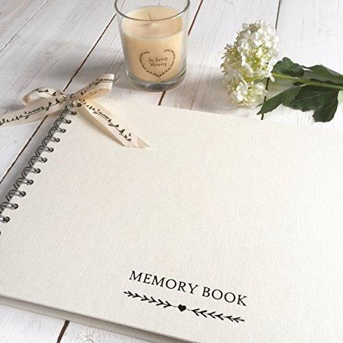 Angel & Dove A4Erinnerungsbuch für Beerdigung, Erinnerung, Kondolenzschreiben, Feier des Lebens