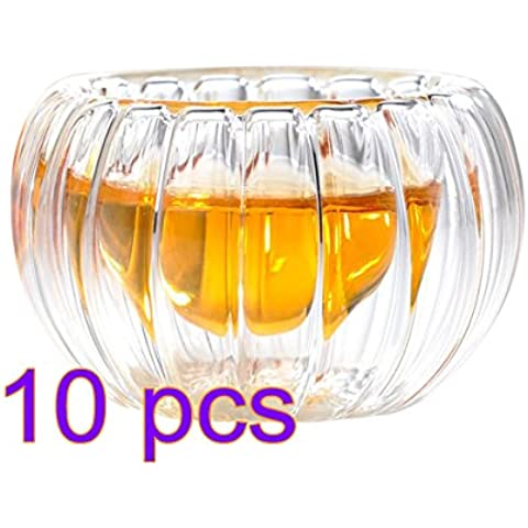Hipsteen Serie di 10pz creativa doppio strato di vetro tazza