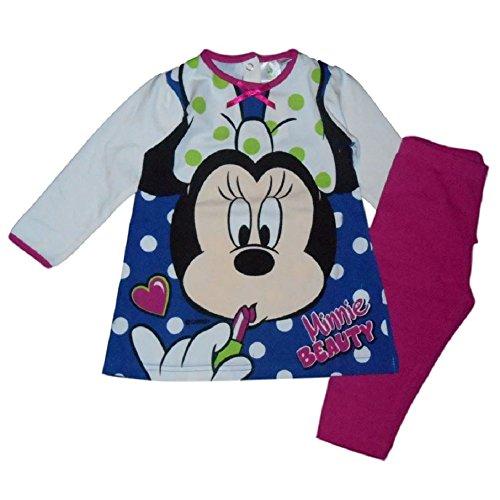 Disney minnie - completo maxi maglia e leggings per neonata (18 mesi)