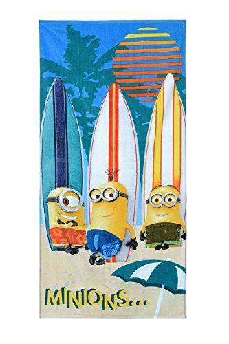 Minions Asciugamano da bagno spiaggia asciugamano in spugna, asciugamano da bagno in 100% cotone, grande con motivo Cattivissimo Me Minions, Tessuto, bunt (4324), 170 x 40 cm