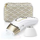 Braun - 81680379 - Silkexpert Pro 5 Pl5137 Épilateur Lumière Pulsée Intense Ipl Dernière Génération, Épilation Permanente, Blanc/Doré -