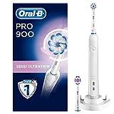 Oral-B Pro 900 Elektrische Zahnbürste, mit Timer, Sensi Ultrathin und 3DWhite Aufsteckbürsten, weiß