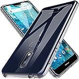 LK Coque pour Nokia 7.1, Ultra [Svelte Mince] Housse Coque Protecteur Silicone Peau Douce Caoutchouc Gel TPU Résistant à la Rayure - Clair