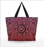 ZXXFR 3D Digital Print Lady Schultertasche Mode Shopping Bag Creative Design
