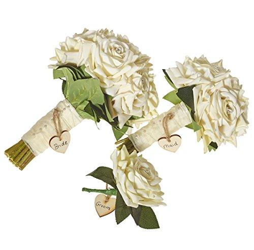Die Blume Zimmer-mit Cream Rose Hochzeit Paket (Künstliche Blumen Für Die Beerdigung)