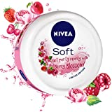 NIVEA Soft, Light Moisturising Cream, Berry Blossom, 100ml