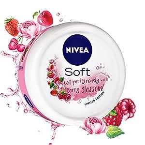 NIVEA Soft, Light Moisturising Cream, Berry Blossom, 100ml