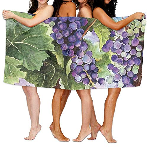 VTXWL Fruit Grape Green Leaves Unisex Fashion Towel Personalized Print Beach Towels Grape Leaf Dish